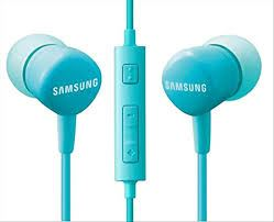 SAMSUNG In-ear Headphones with Remote (3 buttons remote controller (with MIC), Impedance : 32 Ohm, Frequency Response : 20Hz ~20kHz, Cable Length 1.2 m) Blue